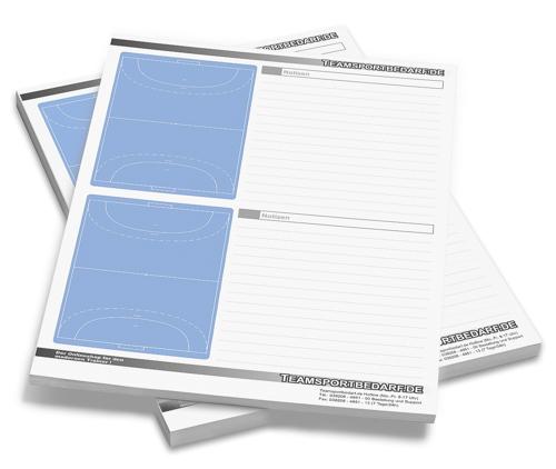 HANDBALL - DIN A4 Notizblock 50 Blatt