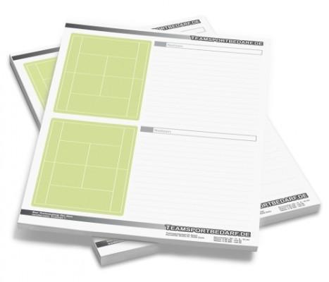 TENNIS - DIN A4 Notizblock 50 Blatt