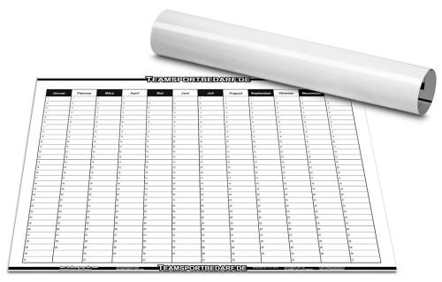 TRAINERPOSTER - Jahresplaner 600 x 800 mm