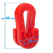 Fixing clips for goal nets - synthetic (red)