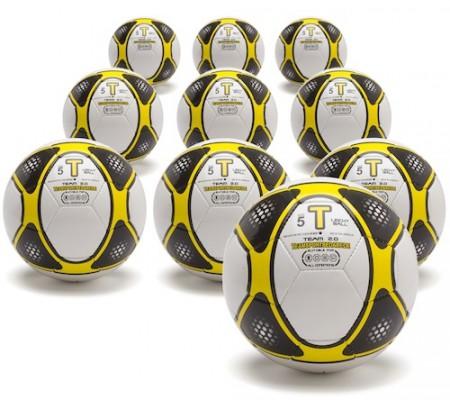 FUSSBALL - 10er Set TEAM 2.0 Trainingsbälle (Gr. 5) Leichtbälle