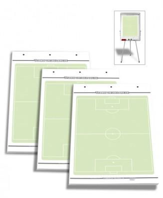 3er Set - Fussball Flipchart-Spielfeldblöcke