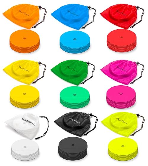 Marker discs Ø 15,5 cm (9 colors) - set of 10