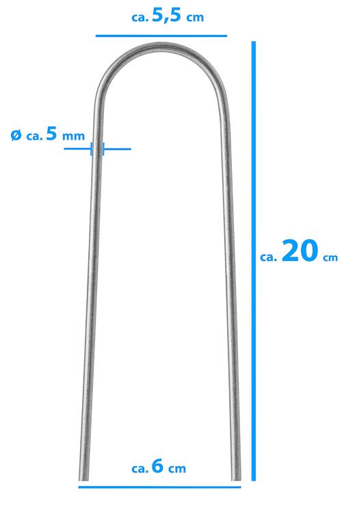 U-Hering (Metall) - 20 cm