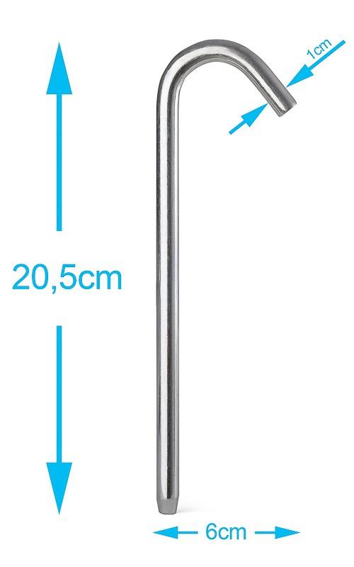 Erdnagel (Metall) - 20,5 cm