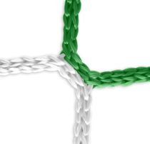 Goal net (green-white) – 7,32 x 2,44 m, 4 mm PP, 80/200 cm