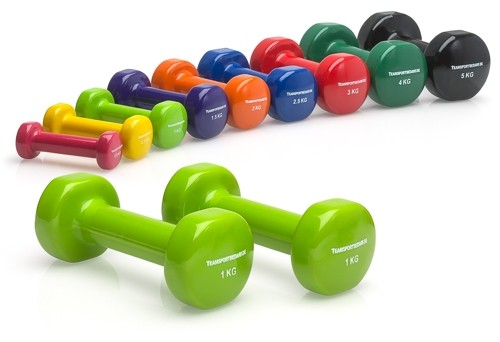 Vinyl Dumbbells 2 pieces - top quality