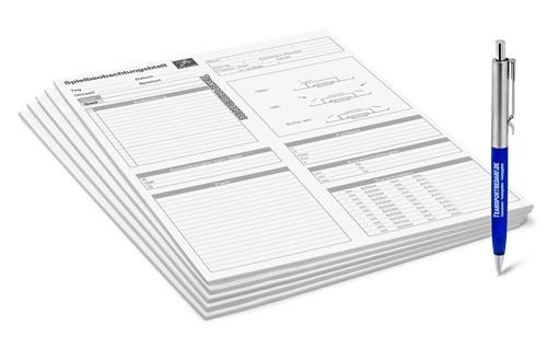 5er Set - Fussball-Spielbeobachtungsblätter (100 Blatt)