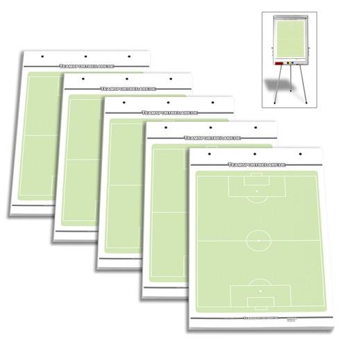 5er Set - Fussball Flipchart-Spielfeldblöcke