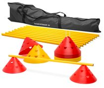 Bag - Jumbo cones with notches – hurdles set