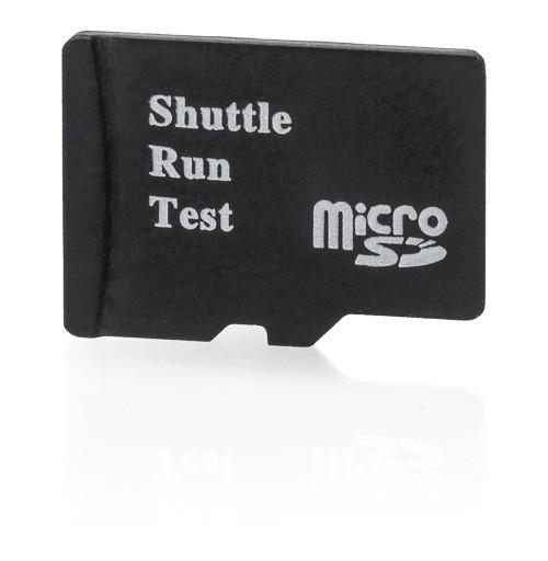 Shuttle-Run-Test - microSD-Karte 128 MB