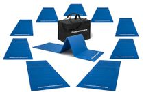Set of 10 gym mats (190 x 60 x 0,8 cm) outdoor - foldable