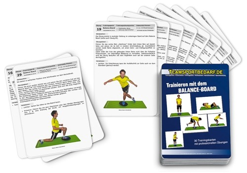"Trainingskarten - ""Balance-Board"" (30 Workouts)"