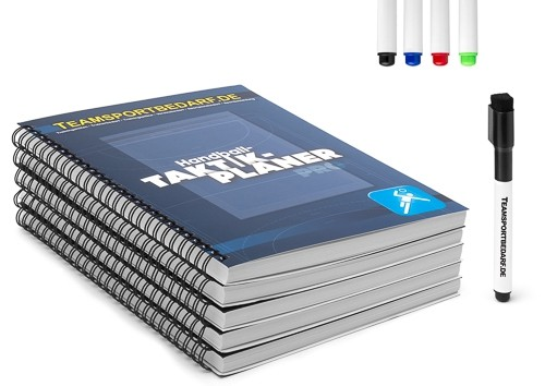 5er Set - Handball-Taktikplaner PRO (19x26 cm)
