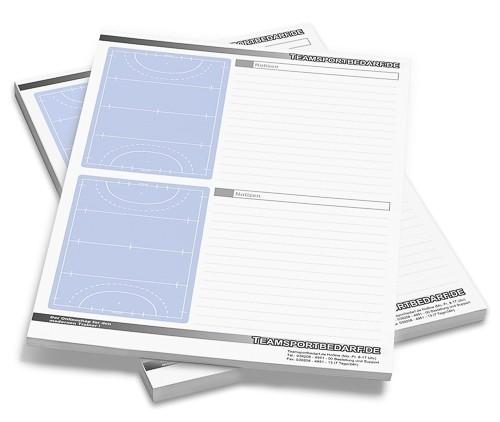 Hockey - DIN A4 Notizblock 50 Blatt