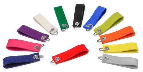 Filz-Schlüsselanhänger - 11 Farben