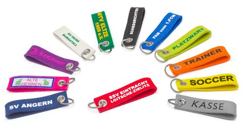 Filz-Schlüsselanhänger - mit Wunschaufdruck