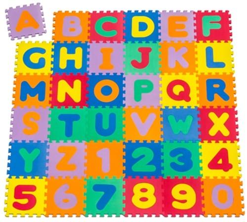 Puzzlematte (Spielmatte) 86-teilig - A-Z, 0-9