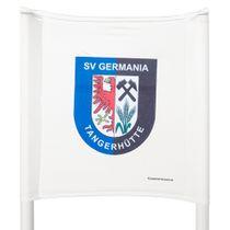 Slalomstangen-Tuch (Farbe: Weiß) - mit Wunschaufdruck