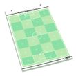 T-PRO Fussball Flipchart-Spielfeldblock - 25 Blatt