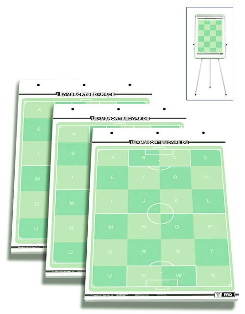 3er Set - T-PRO Fussball Flipchart-Spielfeldblöcke