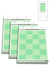 set of 3 - T-PRO football flip chart note pads