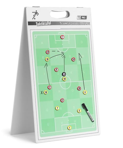 T-PRO Tweezijdig tactiebord 400 x 650 mm - voetbal