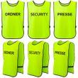 T-PRO Warnweste (Farbe: Neongelb) - Aufdruck: ORDNER, SECURITY oder PRESSE