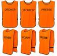 T-PRO Warnweste (Farbe: Orange) - Aufdruck: ORDNER, SECURITY oder PRESSE 001