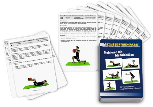 "Trainingskarten - ""Medizinball"" (30 Workouts)"