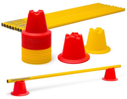 Mini-Pylonen 10 cm - Hürdenset (10 Hürden)