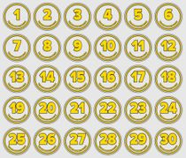 Adhesive numbers - for drinking bottles