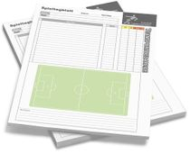 Football - 50 Game Day Sheets DIN A4
