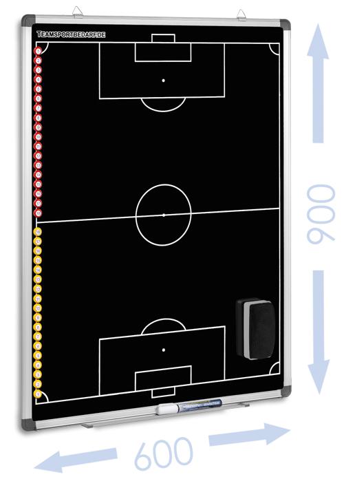FUSSBALL - magnetische Taktiktafel 600 x 900 mm (Schwarz)