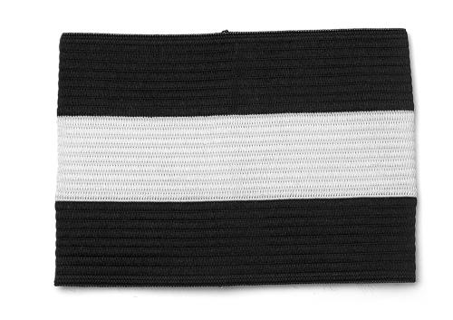 Kapitänsbinde Senior - Farbe: Schwarz-Weiß