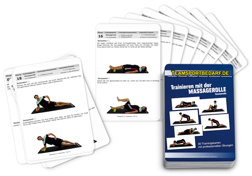 "Trainingskarten - ""Massagerolle (Faszienrolle)"" (30 Workouts)"