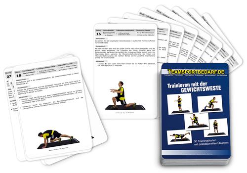 """Trainingskarten - """"Gewichtsweste"""" (30 Workouts)"""