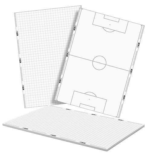 Bloc notes T-PRO (25 fogli) in formato DIN A5 – calcio