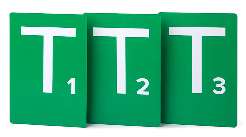 Handball Team-Time-Out Tables (T1, T2, T3) – green