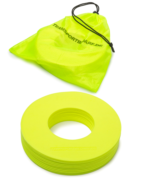 T-PRO marking rings ø 19 cm (neon yellow) – set of 10