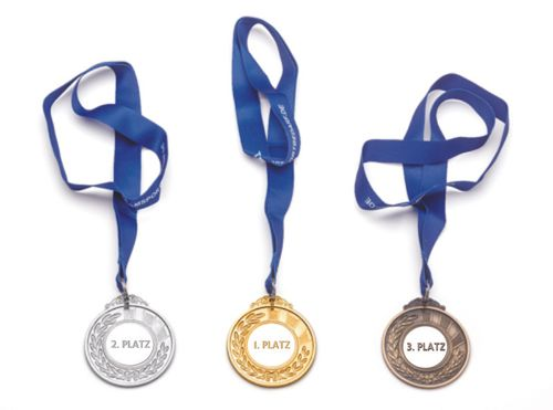 Medals (incl. ribbon) ø76 mm - Gold, Silver or Bronze