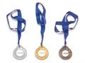 Medals (incl. ribbon) ø76 mm - Gold, Silver or Bronze 001