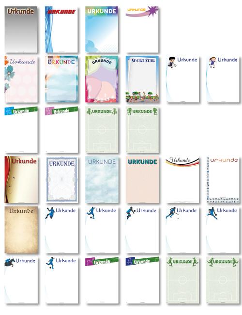 Urkunden (32 Motive) - DIN A4