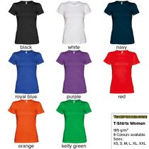 T-Shirts for Ladies (6 Sizes) - 8 Colours