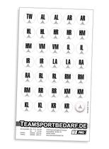 Magnet-Sticker-Set (Positionen) - Handball
