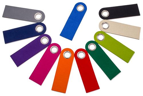 Filz-Türanhänger (Türschild) - 11 Farben