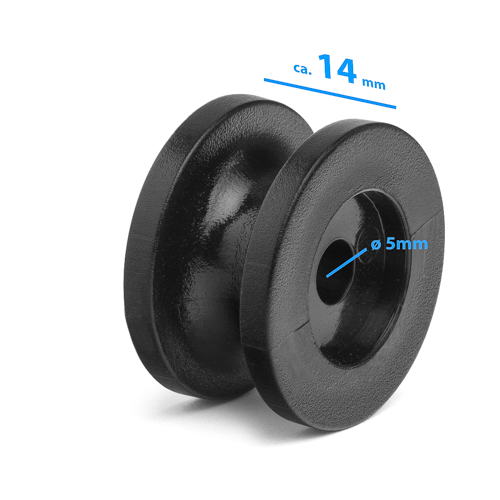 "Tarpaulin hook ""round"" - colour: Black"