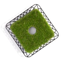 Artificial turf cuff (lawn mower) - for sports field barriers