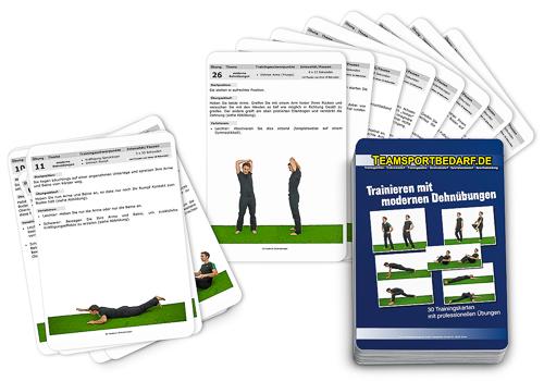 "Trainingskarten - ""moderne Dehnübungen"" (30 Workouts)"