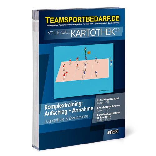 "T-PRO Kartothek 2.0 Volleyball - ""Komplextraining: Aufschlag + Annahme"""